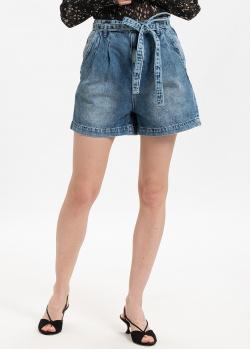 Короткие джинсовые шорты Patrizia Pepe синего цвета, фото