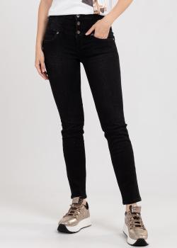 Укороченные джинсы Liu Jo черного цвета, фото
