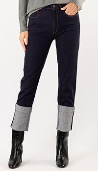 Синие джинсы Luisa Cerano с отворотами, фото
