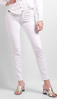 Джинсы-скинни Versace Jeans Couture белого цвета, фото