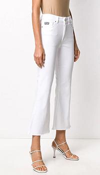 Укороченные джинсы Versace Jeans Couture белого цвета, фото