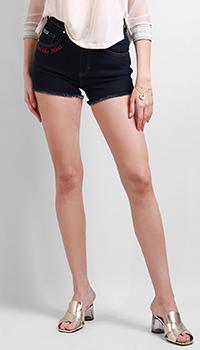 Шорты Versace Jeans Couture темно-синего цвета, фото