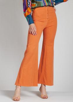 Расклешенные джинсы Alberta Ferretti оранжевого цвета, фото