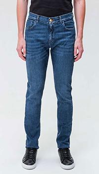 Прямые джинсы Billionaire синего цвета, фото