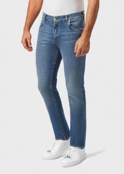 Синие джинсы Billionaire с вышивкой на заднем кармане, фото
