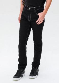 Черные джинсы Billionaire с контрастной строчкой, фото