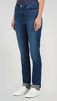 Синие джинсы Bogner с логотипом на поясе, фото