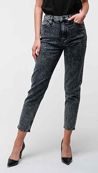 Серые джинсы Calvin Klein с высокой посадкой, фото