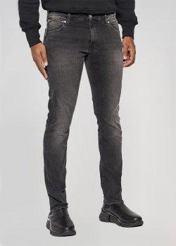 Серые джинсы Calvin Klein с потертостями, фото
