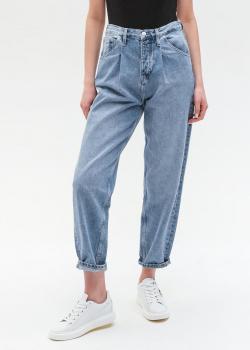 Голубые джинсы Calvin Klein с защипами, фото