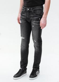 Темно-серые джинсы Calvin Klein с потертостями, фото