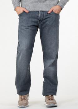 Прямые джинсы Jacob Cohen серого цвета, фото