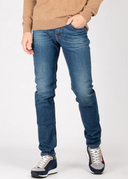 Прямые джинсы Bikkembergs синего цвета, фото