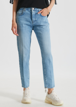 Голубые джинсы Don The Fuller с декором на штанине, фото