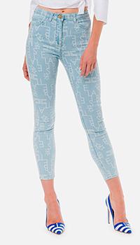 Голубые джинсы Elisabetta Franchi с принтом, фото