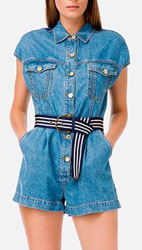 Джинсовый комбинезон Elisabetta Franchi с шортами, фото