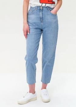 Голубые джинсы Elisabetta Franchi с высокой талией, фото