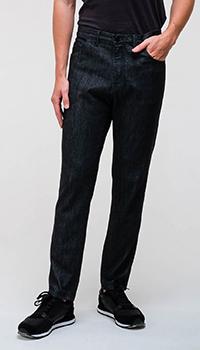 Черные джинсы Emporio Armani с вышивкой-лого, фото