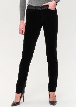 Комбинированные джинсы Emporio Armani черного цвета, фото