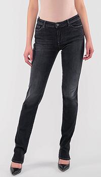 Черные джинсы Emporio Armani с красной строчкой, фото