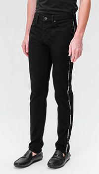 Черные джинсы Emporio Armani с лампасами, фото