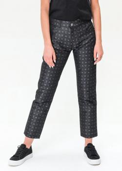 Черные джинсы Emporio Armani с брендовым принтом, фото