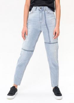 Голубые джинсы Emporio Armani с высокой талией, фото