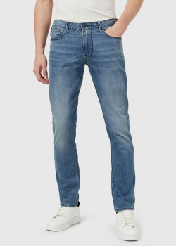 Синие джинсы Emporio Armani прямого кроя, фото