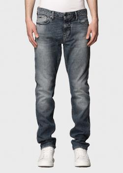 Серые джинсы Emporio Armani с потертостями, фото