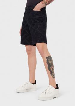 Джинсовые шорты Emporio Armani с жаккардовым лого, фото