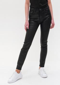Черные джинсы Emporio Armani с блеском, фото