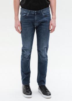 Зауженные джинсы Emporio Armani в синем цвете , фото