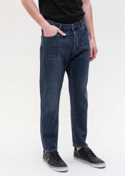 Широкие джинсы Emporio Armani синего цвета, фото