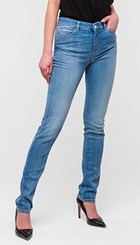 Голубые джинсы Emporio Armani зауженные, фото