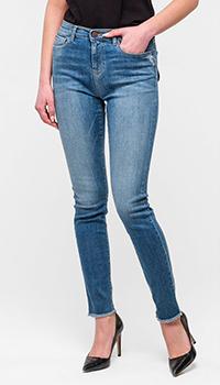 Зауженные джинсы Emporio Armani голубого цвета, фото