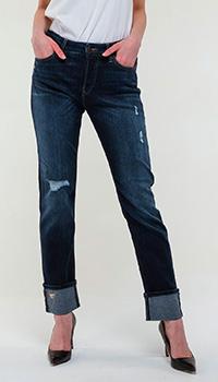 Синие джинсы Emporio Armani с манжетами, фото