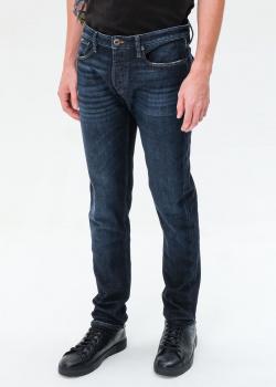 Мужские джинсы Emporio Armani темно-синего цвета, фото