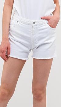 Белые шорты Ermanno Ermanno Scervino с декором-стразами, фото
