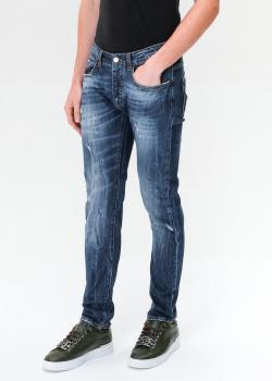 Зауженные джинсы Frankie Morello синего цвета, фото