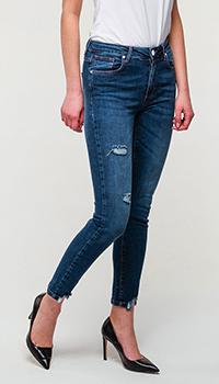 Синие джинсы Frankie Morello с вышивкой, фото