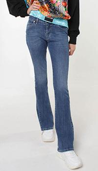 Расклешенные джинсы Frankie Morello синего цвета, фото
