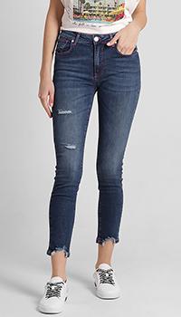 Укороченные джинсы Frankie Morello синего цвета, фото