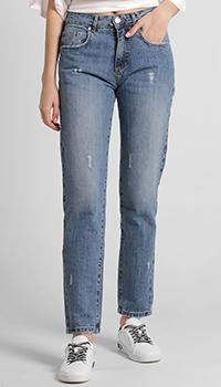 Широкие джинсы Frankie Morello голубого цвета, фото