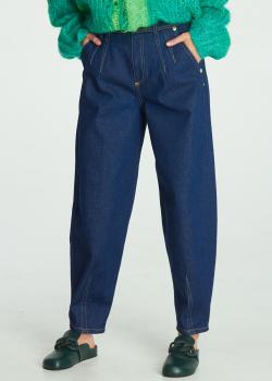 Джинсы-мом Versace Jeans Couture с контрастной строчкой, фото