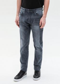 Серые джинсы Hugo Boss с потертостями, фото