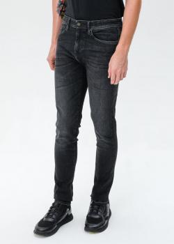 Черные джинсы Hugo Boss зауженного кроя, фото