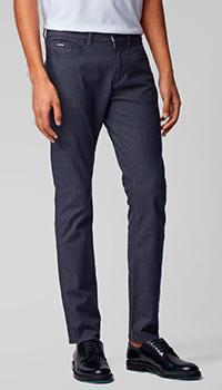 Легкие джинсы Hugo Boss темно-синего цвета, фото