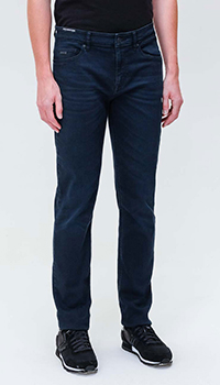 Мужские джинсы Hugo Boss синего цвета, фото