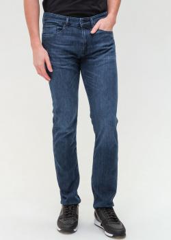 Зауженные джинсы Hugo Boss синего цвета, фото