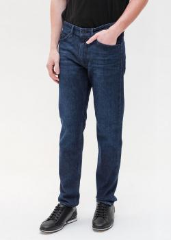 Синие джинсы Hugo Boss прямого кроя, фото